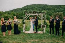 The ceremony circle - gorgeous even on a cloudy day