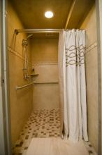 Extra shower in the guest room area behind the bridal suite