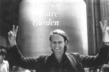 Sam Lovejoy at the 1979 No Nukes concerts at Madison Square Garden, which funded anti-nuclear activiities around the country for the better part of a decade. Hard to beilieve these massive events were organized by Montague Farmers from a small office in Turners Falls! No Nukes.